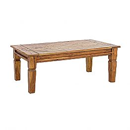 Solid Acacia Wood Coffee Table Homemotion Classic Design - Remo