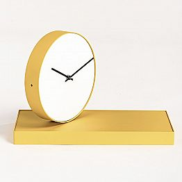 Swivel Table Clock with Steel Mirror Made in Italy - Benemerito