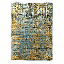 Modern Hand-Knotted Living Room Carpet in Bamboo Silk and Cotton - Buba