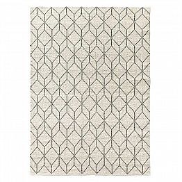 Modern Hand-Woven Carpet with Geometric Design in Wool for Living Room - Geome