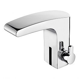 Basin Mixer with Infrared Sensor in Chrome Brass, Luxury - Gonzo