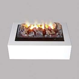 Freestanding electric  fireplace with water vapour Dickinson