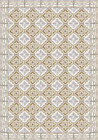 Table Runner of Colorful Patterned Design in Pvc and Polyester - Dorado