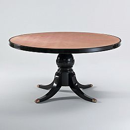Round dining table Akim in glossy mahogany Ø 150 cm, classic design