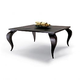 Luxury design solid wood dining table Filo, made in Italy
