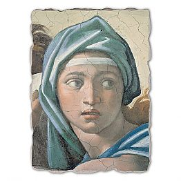 Delphic Sibyl by Michelangelo, hand-painted fresco, big size