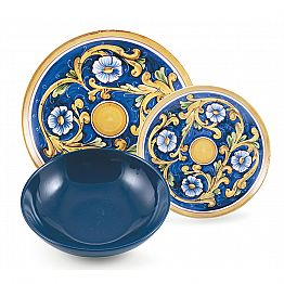 Service Colored and Modern Dishes Tableware Complete Set 18 Pieces - Cefalu