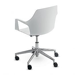 Office Chair in Aluminum and Polypropylene Made in Italy, 2 Pieces - Charis