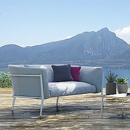 Modern Outdoor or Indoor Sofa with Removable Design Made in Italy - Carmine