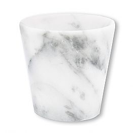 Grappa Glass in White Carrara Marble Made in Italy - Fergie