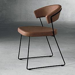 Design chair in textile and metal made in Italy, Formia