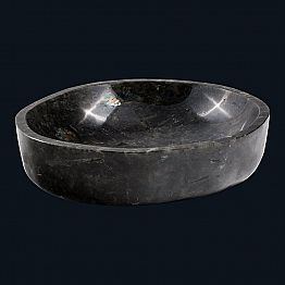 Design countertop washbasin made of labradorite stone, Scudo