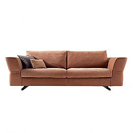 3 seater upholstered fabric sofa Grilli Joe 100 % made in Italy