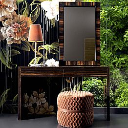 Grilli Zarafa modern design ebony wood console 100 % made in Italy