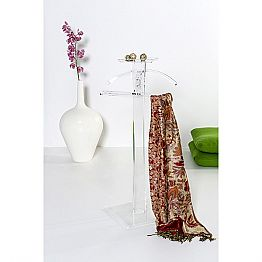 Modern coat rack made of transparent plexiglass Benny, made in Italy