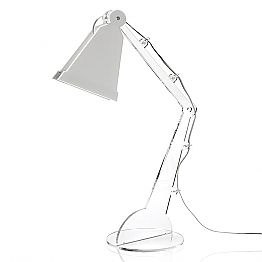 Tecno-style table/reading lamp with LED light, Flero