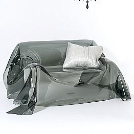 Modern design sofa made of plexiglass Jolly,made in Italy, fumé finish