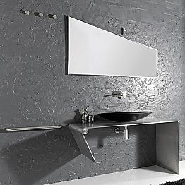 Modern design countertop bathroom furniture made in Italy Luisa