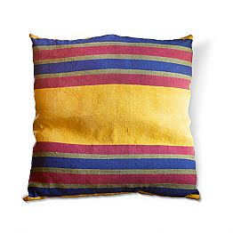 Italian Crafted Hemp Cushion Unique Piece Hand Painted - Viadurinimilano by Marchi