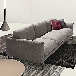 Fabric sofa Kom, made in Italy by My Home, modern Italian design