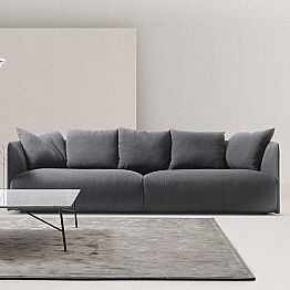 Modern living room sofa Lullaby with fabric upholstery, made in Italy