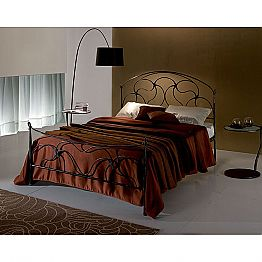 Wrought-iron double bed Cigno