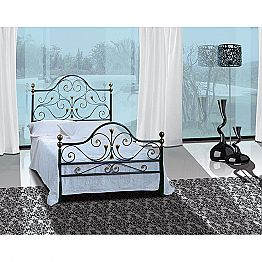 Wrought-iron small double bed Fenice
