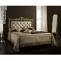 Wrought-iron double bed Giglio