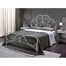 Wrought-iron double bed Granito