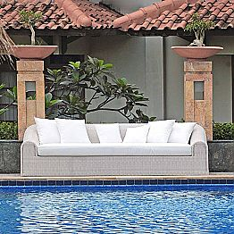 Large outdoor sofa Cooper, handmade modern design