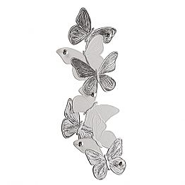 Handmade butterflies wall mounted coat hanger, made in Italy