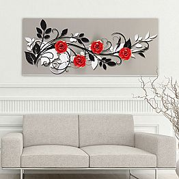 Painting Le quattro rose by Viadurinimilano Decor, made in Italy