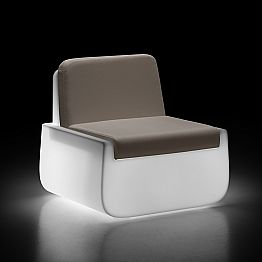 Luminous Outdoor Armchair in Polyethylene with Cushion Made in Italy - Belida