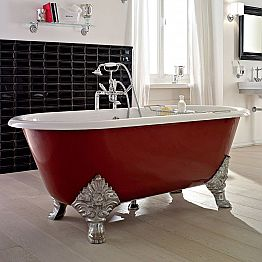 Vintage Freestanding Bathtub with Cast Iron Feet, Made in Italy - Naike