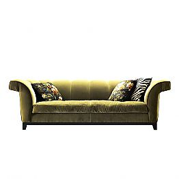 Design 3 seater upholstered sofa Grilli Shell handmade in Italy