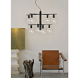 Suspended design lamp in 8/12 metal made in Italy Velia