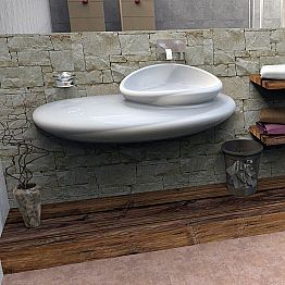 Wall mounted sink Stone, modern Italian design made in Italy