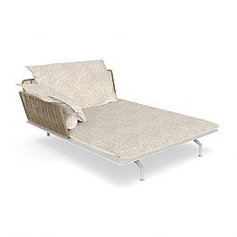 Garden Chaise Longue Sofa in Aluminum and Fabric - Cruise Alu by Talenti