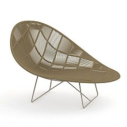 Modern Design Garden Pouf in Aluminum and Fabric - Panama by Talenti
