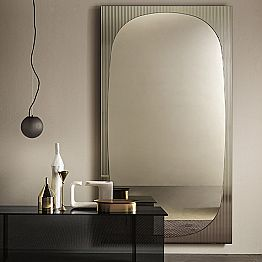 Modern Wall Mirror with Bronze Mirror Made in Italy - Bandolero