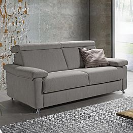 Modern sofa bed in removable fabric produced in Italy Attilio