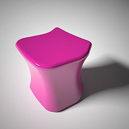 Modern design stool Dirimo, handcrafted in Italy, made of Solid Surface