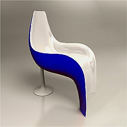 Contemporary design Solid Surface armchair Helled, made in Italy