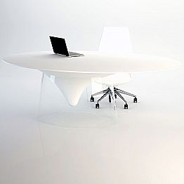 Design table with cristal base made in Italy, Teggiano